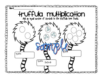 whimsical trees multiplication practice with equal groups