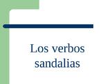 """white board practice  preterite """"sandal verbs"""""""