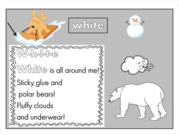 white-sight word song, worksheets, power point slide