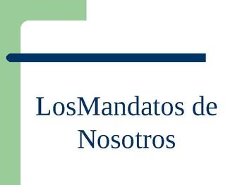 whiteboard practice  Nosotros Commands