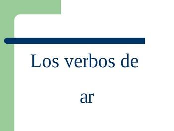 whiteboard practice regular ar, ir, er, verbs