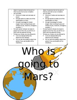 who's going to Mars?