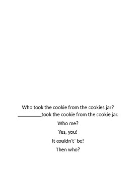 who took the cookies from the cookie jar