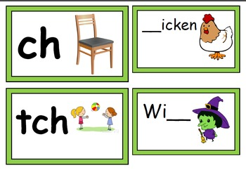 digraphs wh, ch, tch