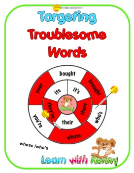 whose/who's Targeting Troublesome Words Worksheets