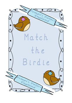 winter birds upper and lowercase alphabet match phonics