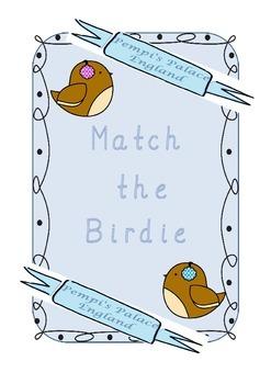 winter birds upper and lowercase alphabet match phonics