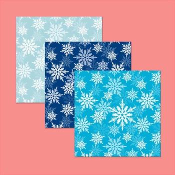 winter digital paper - printable snowflake pattern