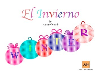 winter fun posters in spanish and english