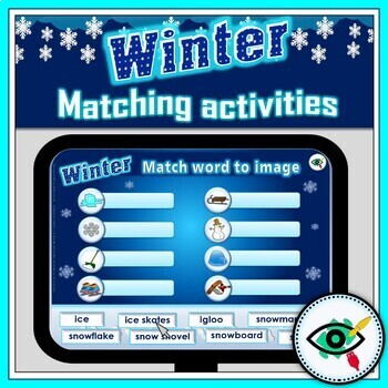 Winter interactive matching activities