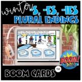 winter plural ending add s, es, ies word sort boom cards *