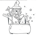 witch & caldron clip art