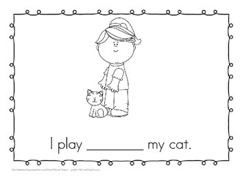 "Sight Word Book and Emergent Reader-""with"""