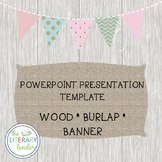 wood background banner powerpoint template
