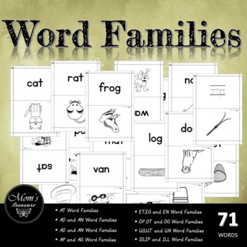 word Families - Flashcards