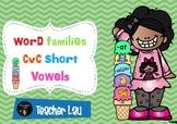 word families CvC short vowels game