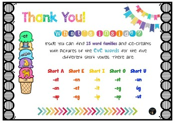 word families CvC short vowels game