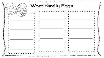 word family eggs