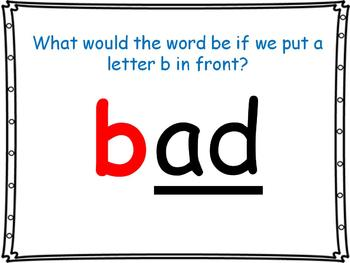 word family powerpoint: -ad