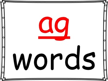 word family powerpoint: -ag