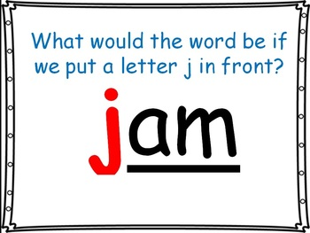 word family powerpoint: -am