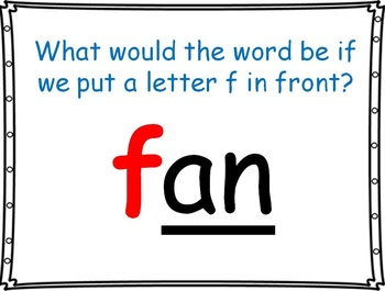 word family powerpoint: -an