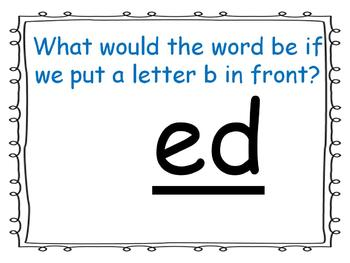 word family powerpoint: -ed