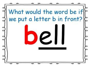 word family powerpoint: -ell