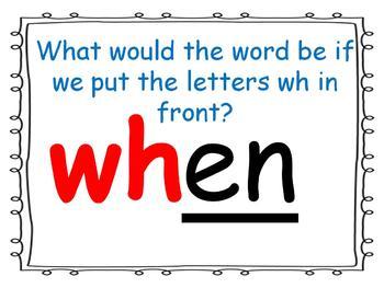 word family powerpoint: -en