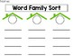 word family sorting activity