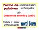 word form/fomra de palabras prim 1-way blue/rojo