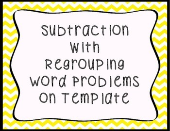 word problems (double digit subtraction with regrouping)
