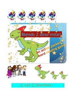 word reading game: blends 2 dino-mite!