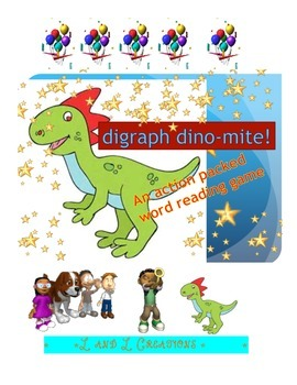 word reading game: digraph dino-mite!