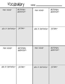 word study grid