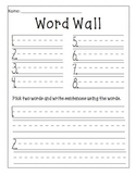 Word Wall Center