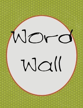 word wall plus center labels