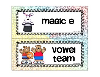 """word work: sorting """"magic e"""" and """"vowel teams"""""""