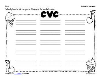 word work: spin a word_cvc spelling pattern