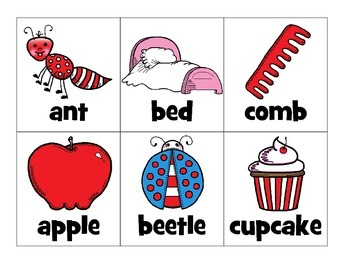 word work: syllable sort_that rhyming cat theme