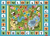 English vocabulary board game (words race)