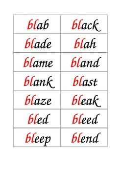 words starting with bl
