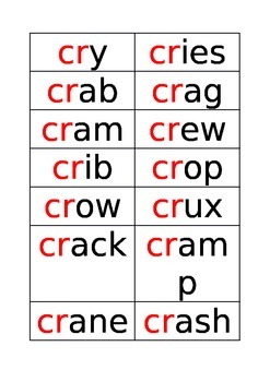 words starting with cr