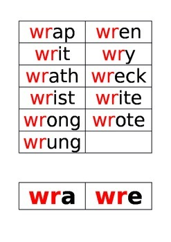 words starting with 'wr'