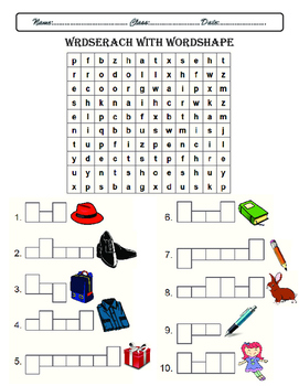 wordsearch with wordshape game