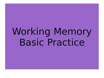 working memory practice