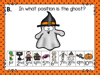 working with ordinals: halloween theme