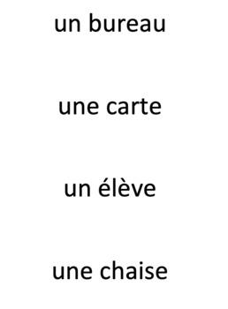 works w/ Bien Dit 1 ch. 1 : Pop-Up vocabulary Game