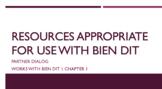 works w/ Bien Dit 1 ch. 1 : partner dialog
