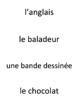works w/ Bien Dit 1 ch. 2 : vocabulary Pop-Up game